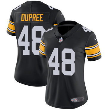 Nike Pittsburgh Steelers #48 Bud Dupree Black Alternate Women's Stitched NFL Vapor Untouchable Limited Jersey