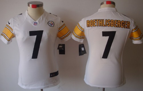 Nike Pittsburgh Steelers #7 Ben Roethlisberger White Limited Womens Jersey