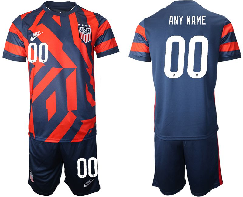 Men 2020-2021 National team United States away customized blue Nike Soccer Jersey