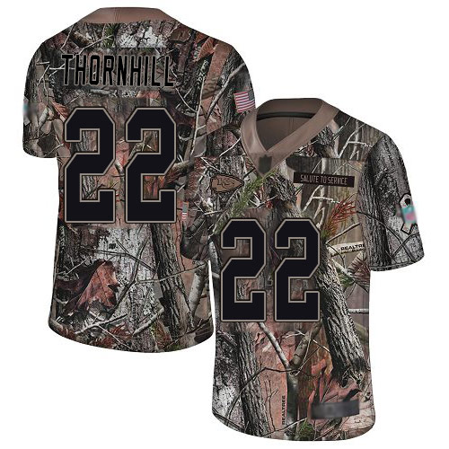 Chiefs #22 Juan Thornhill Camo Men's Stitched Football Limited Rush Realtree Jersey