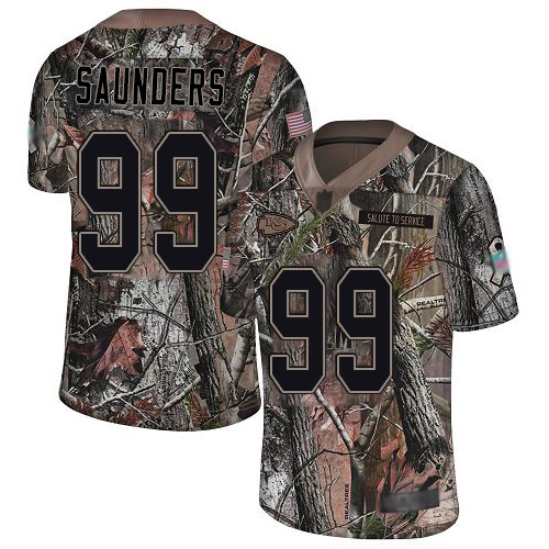 Chiefs #99 Khalen Saunders Camo Men's Stitched Football Limited Rush Realtree Jersey