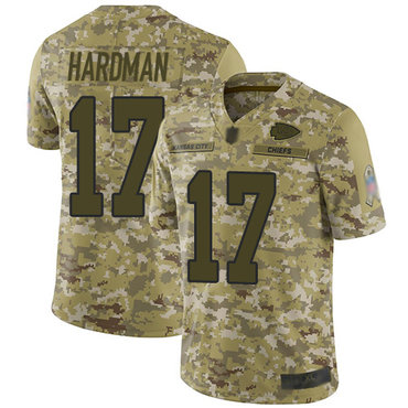 Chiefs #17 Mecole Hardman Camo Men's Stitched Football Limited 2018 Salute To Service Jersey