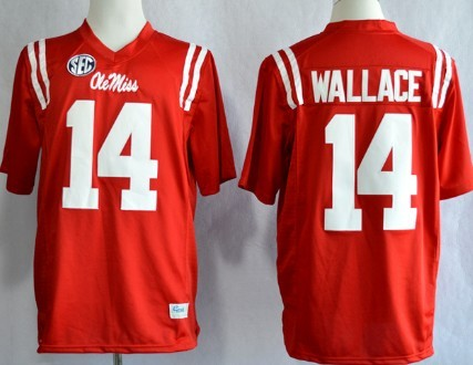 Ole Miss Rebels #14 Bo Wallace 2013 Red Jersey