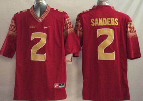 Florida State Seminoles #2 Deion Sanders 2014 Red Limited Jersey