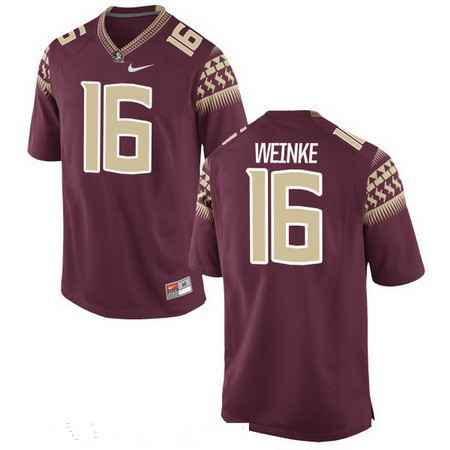 Men's Florida State Seminoles #16 Chris Weinke Red Stitched College Football 2016 Nike NCAA Jersey