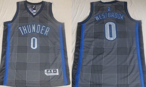 Oklahoma City Thunder #0 Russell Westbrook Black Rhythm Fashion Jersey
