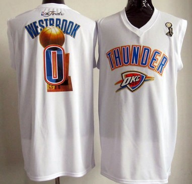 Oklahoma City Thunder #0 Russell Westbrook 2012 NBA Champions White Jersey