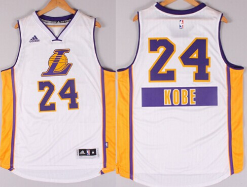 Los Angeles Lakers #24 Kobe Bryant Revolution 30 Swingman 2014 Christmas Day White Jersey