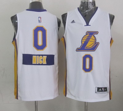 Los Angeles Lakers #0 Nick Young Revolution 30 Swingman 2014 Christmas Day White Jersey
