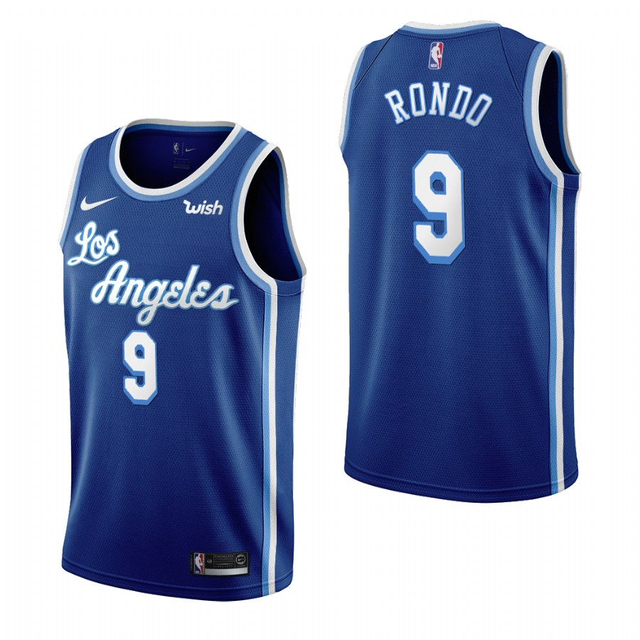 Los Angeles Lakers #9 Rajon Rondo Blue 2019-20 Classic Edition Stitched NBA Jersey