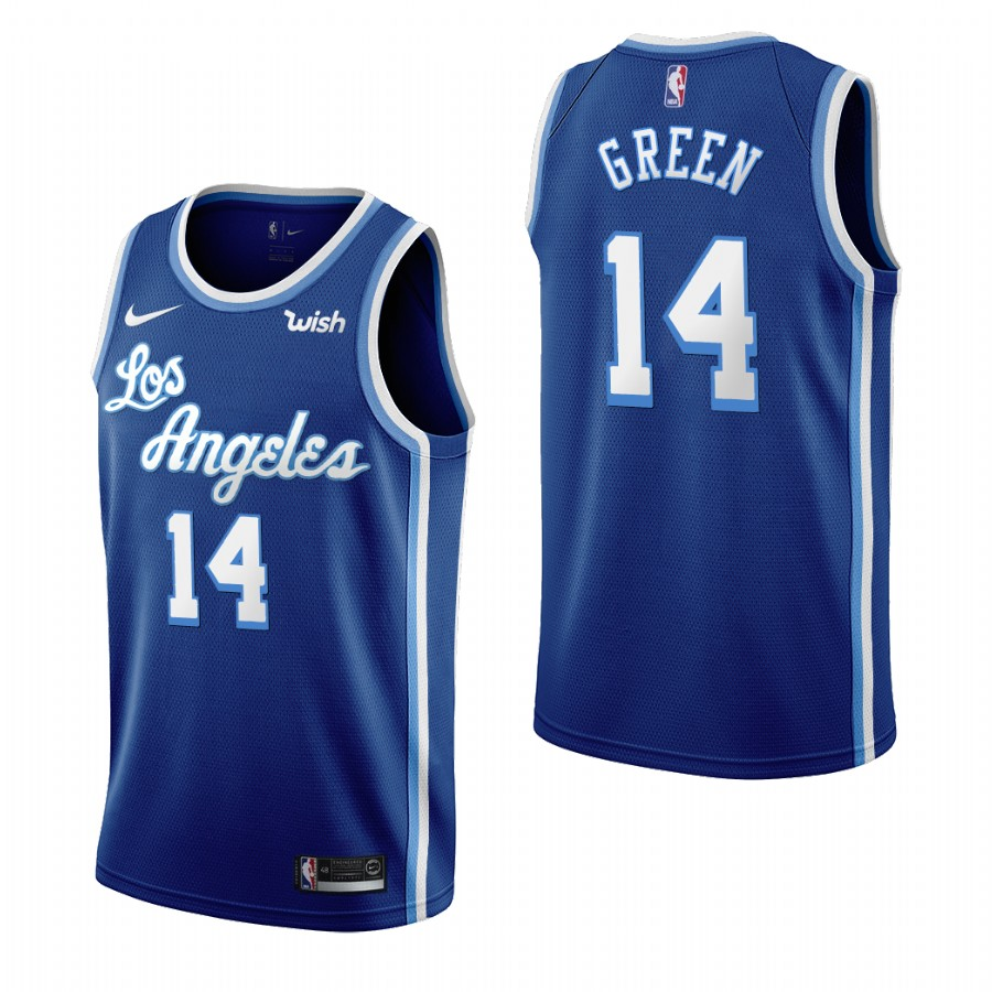 Los Angeles Lakers #14 Danny Green Blue 2019-20 Classic Edition Stitched NBA Jersey