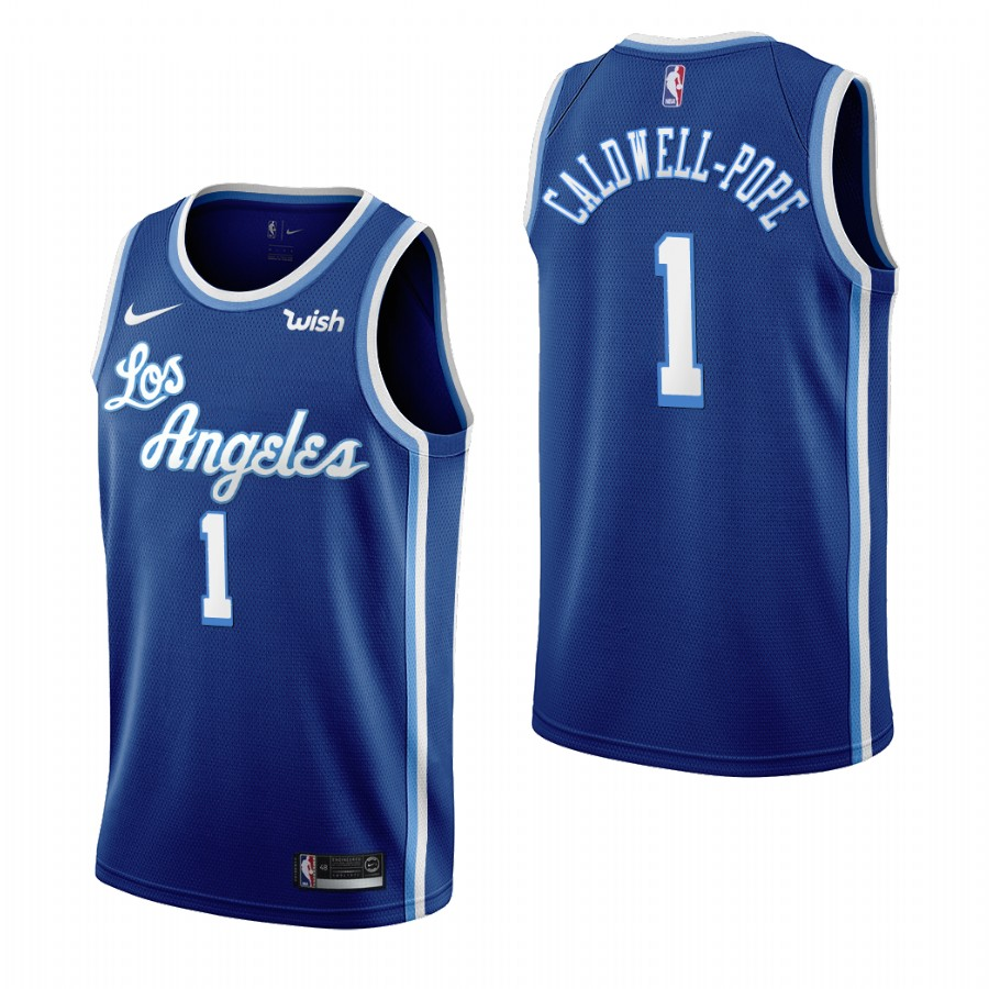 Los Angeles Lakers #1 Kentavious Caldwell-Pope Blue 2019-20 Classic Edition Stitched NBA Jersey