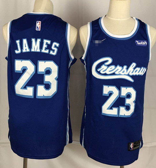 Crenshaw #23 LeBron James Swingman Stitched NBA Jersey