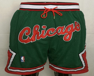 Chicago Bulls Green With Chicago Swingman Throwback Shorts
