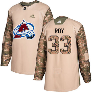 Adidas Avalanche #33 Patrick Roy Camo Authentic 2017 Veterans Day Stitched NHL Jersey
