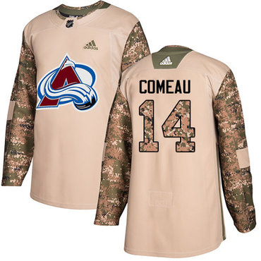 Adidas Avalanche #14 Blake Comeau Camo Authentic 2017 Veterans Day Stitched NHL Jersey