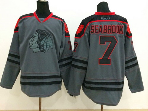 Chicago Blackhawks #7 Brent Seabrook Charcoal Gray Jersey