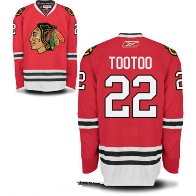 Mens Chicago Blackhawks #22 Jordin Tootoo Red Home Hockey Stitched NHL Jersey