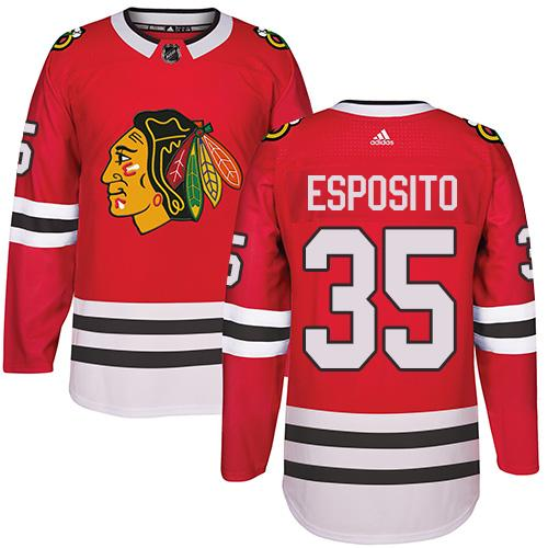 Adidas Chicago Blackhawks #35 Tony Esposito Red Home Authentic Stitched NHL Jersey