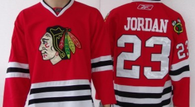 Chicago Blackhawks #23 Michael Jordan Red Jersey