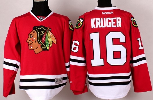 Chicago Blackhawks #16 Marcus Kruger Red Jersey
