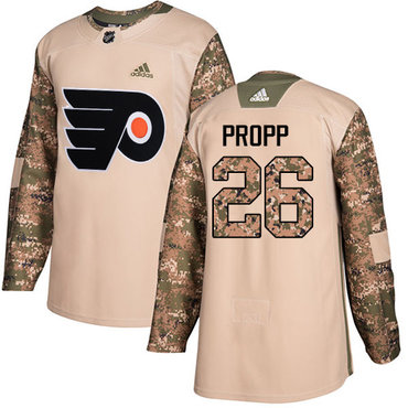 Adidas Flyers #26 Brian Propp Camo Authentic 2017 Veterans Day Stitched NHL Jersey