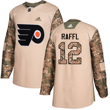Adidas Flyers #12 Michael Raffl Camo Authentic 2017 Veterans Day Stitched NHL Jersey