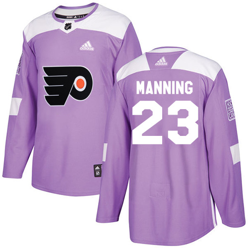 Adidas Flyers #23 Brandon Manning Purple Authentic Fights Cancer Stitched NHL Jersey