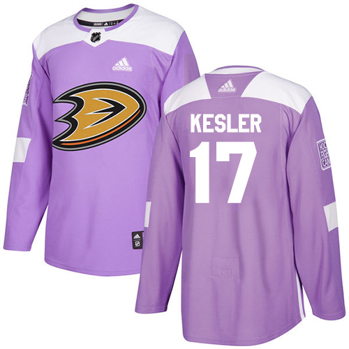 Adidas Ducks #17 Ryan Kesler Purple Authentic Fights Cancer Stitched NHL Jersey