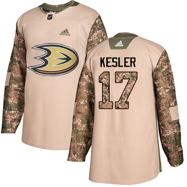 Adidas Ducks #17 Ryan Kesler Camo Authentic 2017 Veterans Day Stitched NHL Jersey