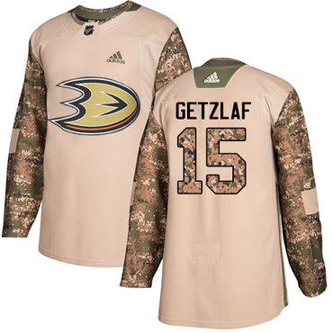 Adidas Ducks #15 Ryan Getzlaf Camo Authentic 2017 Veterans Day Stitched NHL Jersey