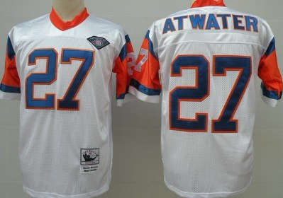 Denver Broncos #27 Steve Atwater White 75TH Throwback Jersey