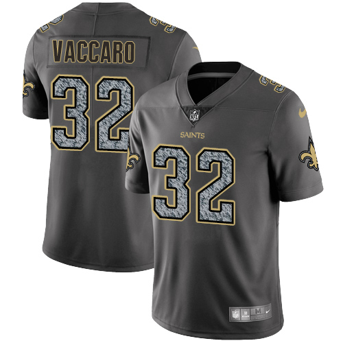 Nike New Orleans Saints #32 Kenny Vaccaro Gray Static Men's NFL Vapor Untouchable Game Jersey