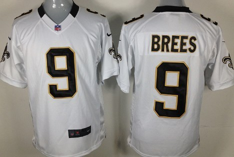 Nike New Orleans Saints #9 Drew Brees White Game Jersey