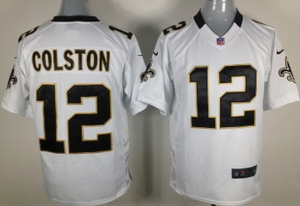 Nike New Orleans Saints #12 Marques Colston White Game Jersey
