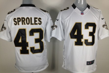 Nike New Orleans Saints #43 Darren Sproles White Game Jersey