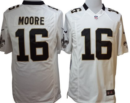 Nike New Orleans Saints #16 Lance Moore White Game Jersey