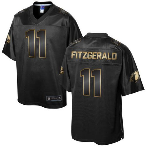 Nike Cardinals #11 Larry Fitzgerald Pro Line Black Gold Collection Men's Stitched NFL Game Jersey