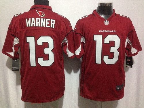 Men's Arizona Cardinals #13 Jaron Brown Red Team Color Stitched NFL Nike Game Jersey