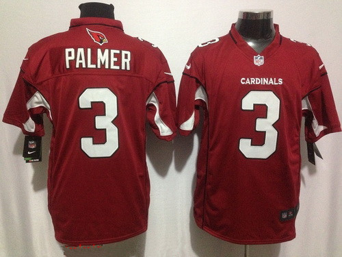 Men's Arizona Cardinals #3 Carson Palmer Red Team Color Stitched NFL Nike Game Jersey