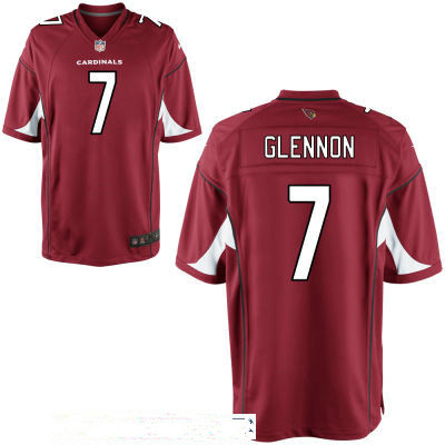 Men's Arizona Cardinals #7 Mike Glennon Red Stitched NFL Nike Game Jersey