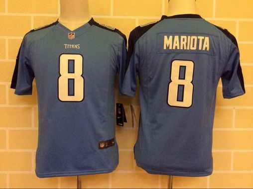 Youth Tennessee Titans #8 Marcus Mariota Light Blue Team Color NFL Nike Game Jersey