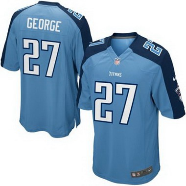 Youth Tennessee Titans #27 Eddie George Light Blue Retired Player NFL Nike Game Jersey