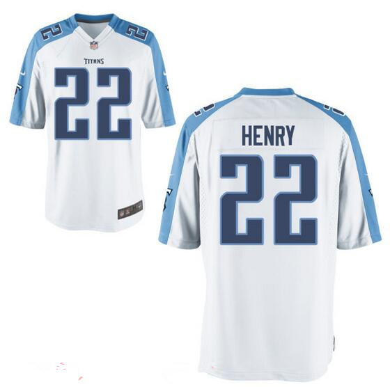 Youth Tennessee Titans #22 Derrick Henry White Road Stitched NFL Nike Game Jersey