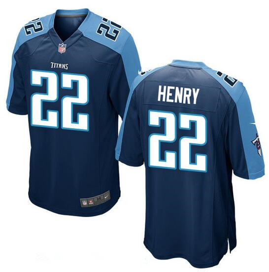 Youth Tennessee Titans #22 Derrick Henry Navy Blue Alternate Stitched NFL Nike Game Jersey
