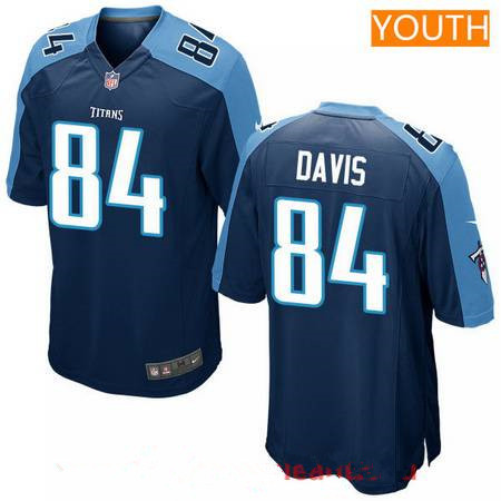 Youth 2017 NFL Draft Tennessee Titans #84 Corey Davis Navy Blue Alternate Stitched NFL Nike Game Jersey