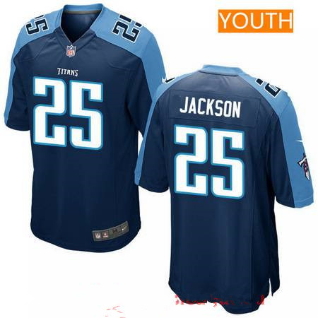 Youth 2017 NFL Draft Tennessee Titans #25 Adoree Jackson Navy Blue Alternate Stitched NFL Nike Game Jersey