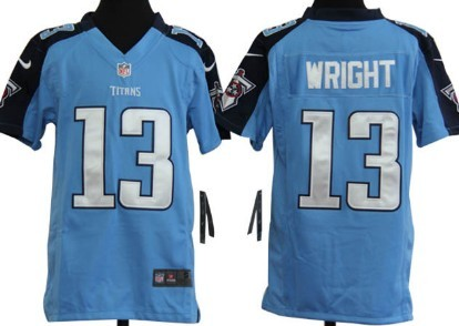 Nike Tennessee Titans #13 Kendall Wright Light Blue Game Kids Jersey