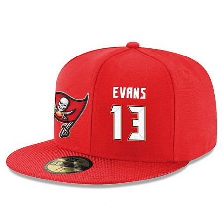 Tampa Bay Buccaneers #13 Mike Evans Snapback Cap NFL Player Red with White Number Stitched Hat