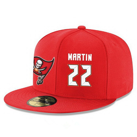 Tampa Bay Buccaneers #22 Doug Martin Snapback Cap NFL Player Red with White Number Stitched Hat